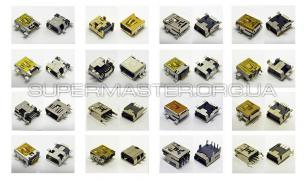 Connector socket mini usb (40 types)