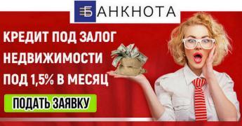 Кредит під заставу нерухомості Київ