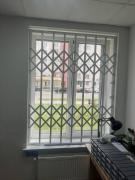Rose metal grilles on the doors of the windows of the windows of the Vinnytsia
