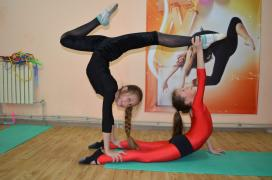 The grandiose set of a new school of Aesthetic gymnastics in Zaporozhye city