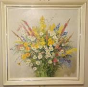 Весенние цветы, картина маслом холст, художник Л.Синявский