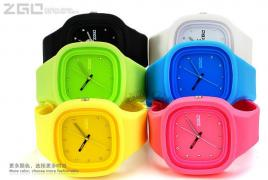 ZGO silicone watch with interchangeable strap